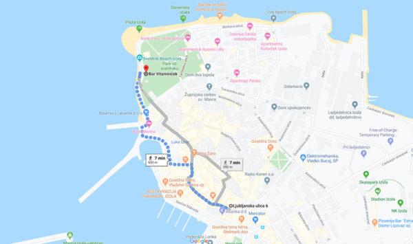 Od apartmaja do plaže samo 7min peš